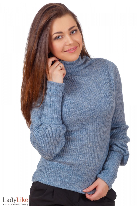 Фото Гольф серый вязаный Деловая женская одежда