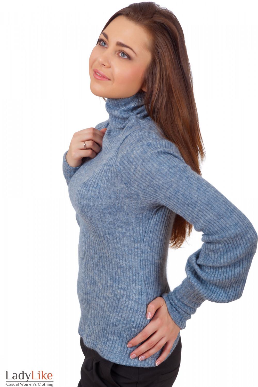 Фото Гольф серый вязаный из мохера Деловая женская одежда