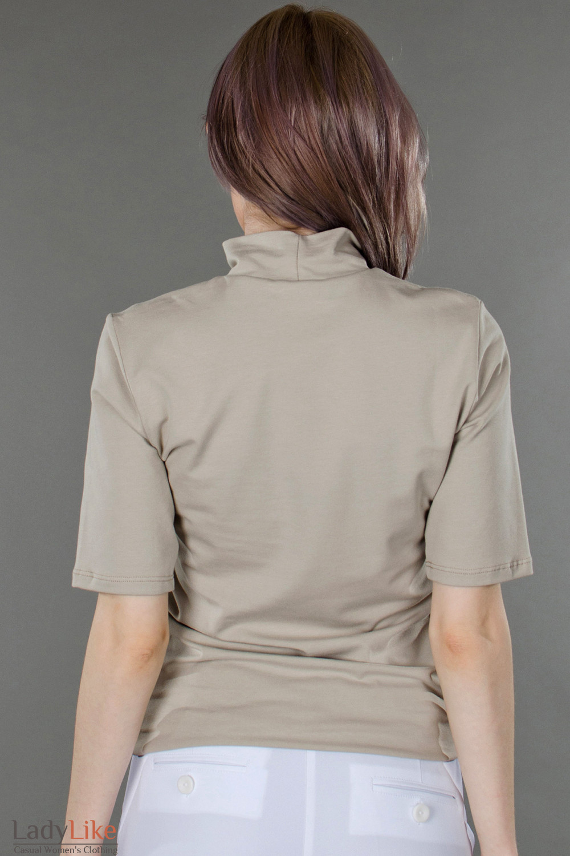 Фото Гольф светло-бежевый с коротким рукавом вид сзади Деловая женская одежда