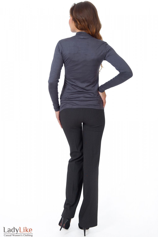 Фото Гольф темно-серый из спандекса вид сзади Деловая женская одежда