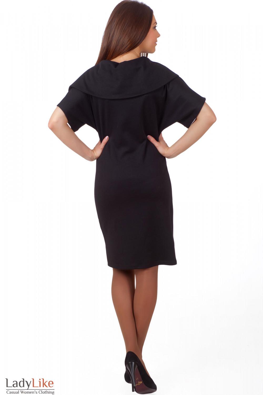 Фото Трикотажное плятье-футляр Деловая женская одежда