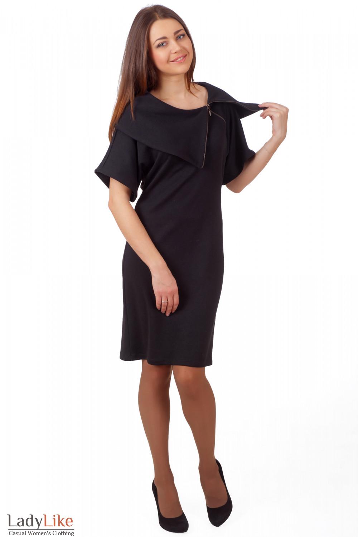 Фото Черное плятье-футляр Деловая женская одежда