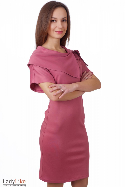 Фото Платье-футляр розовое Деловая женская одежда