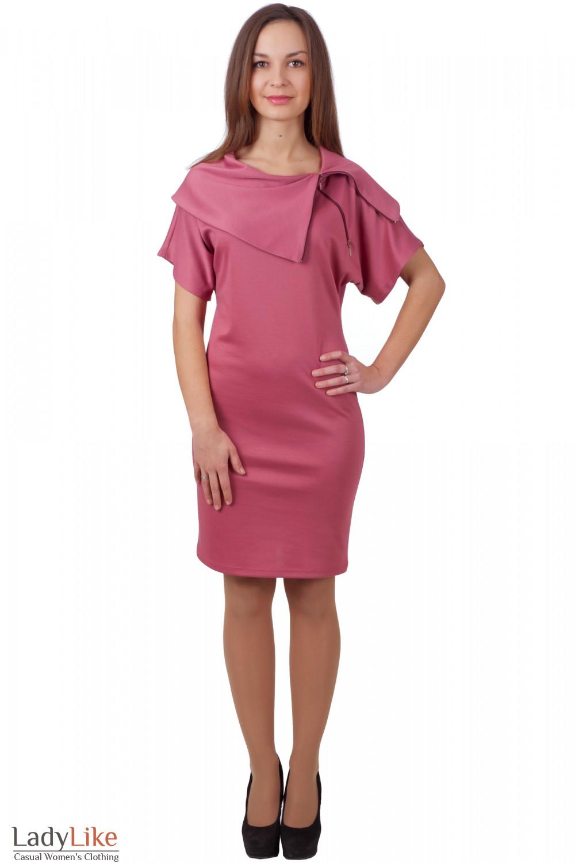 Фото Платье-футляр с воротником Деловая женская одежда