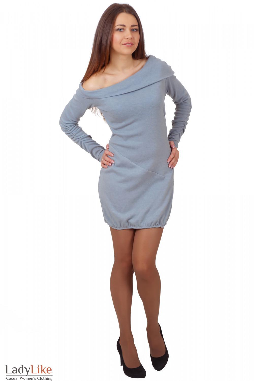 Фото Платье-туника из шерсти Деловая женская одежда