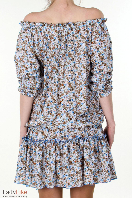 Фото Платье белое с открытыми плечами вид сзади Деловая женская одежда