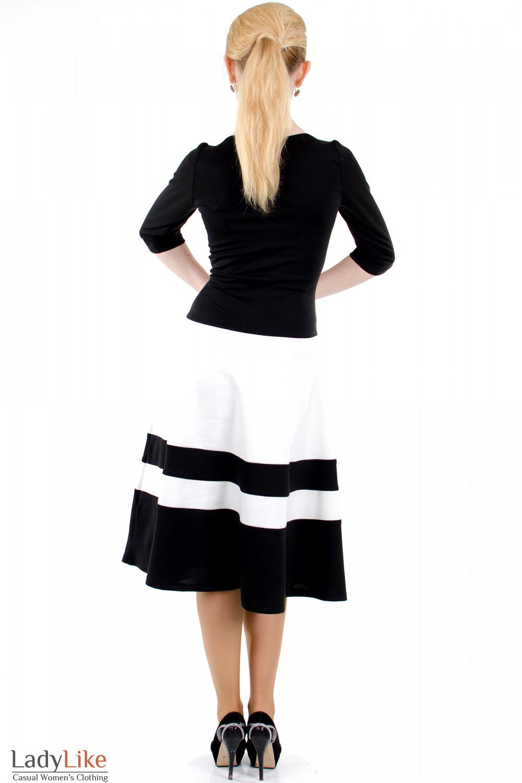 Фото Платье черное с пышной юбкой вид сзади Деловая женская одежда