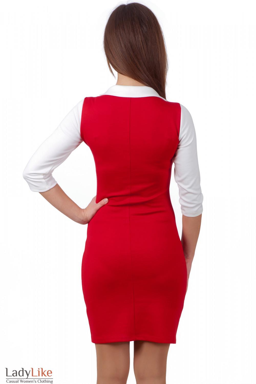 Фото Платье красное болероДеловая женская одежда