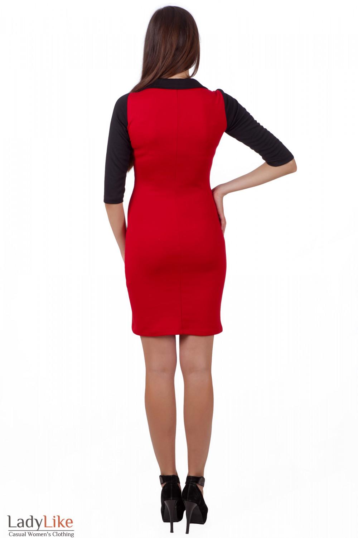 Фото Красное платье к новому году Деловая женская одежда