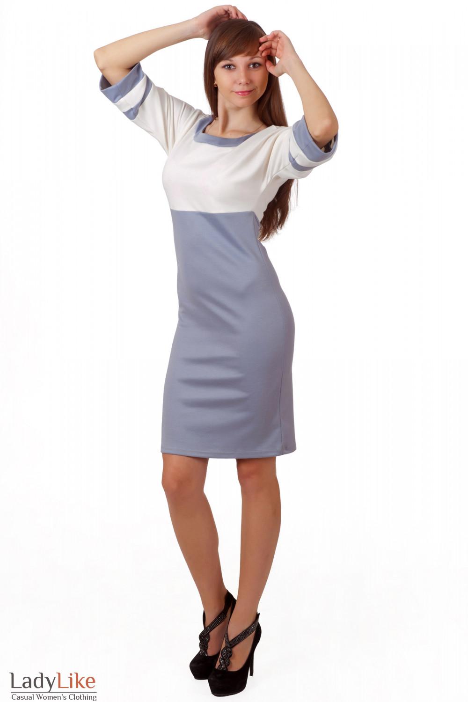 Фото Платье трикотажное облегающее Деловая женская одежда