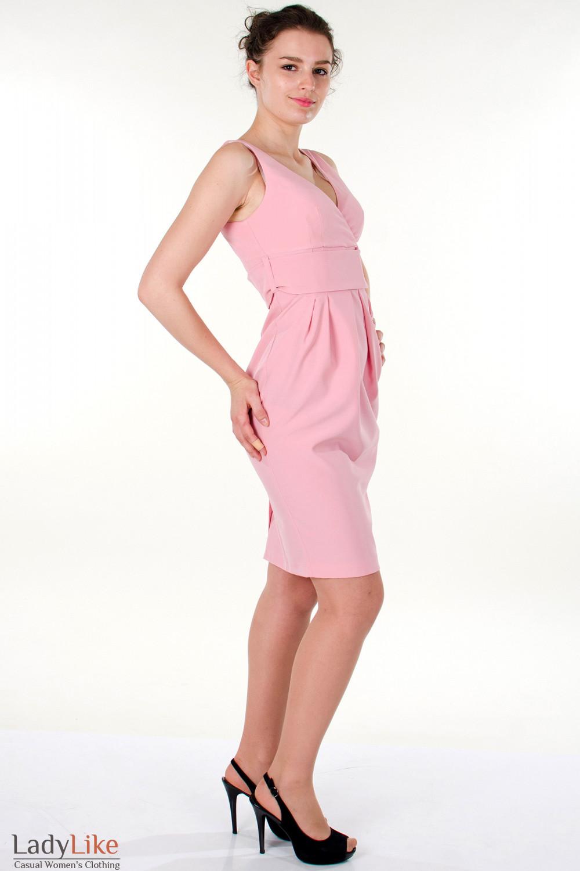 Фото Платье розовое вечернее вид сбоку Деловая женская одежда