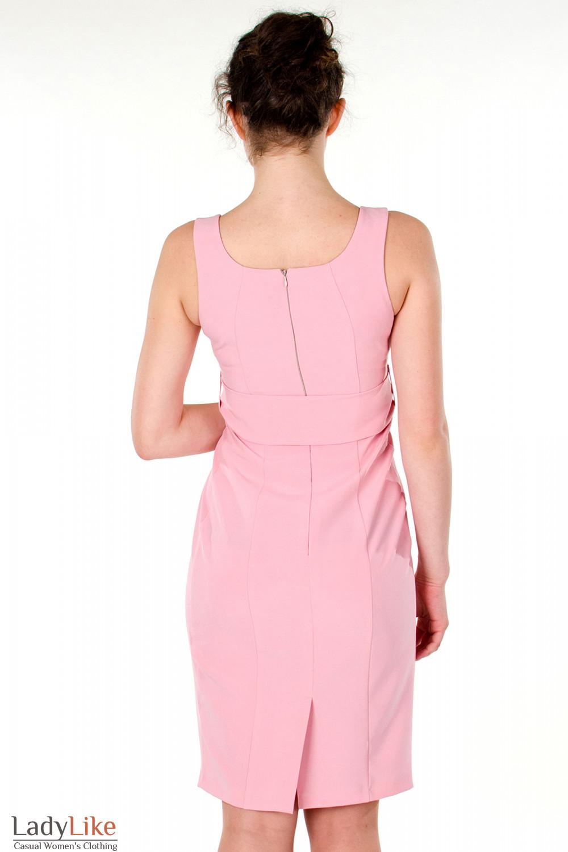 Фото Платье розовое вечернее вид сзади Деловая женская одежда