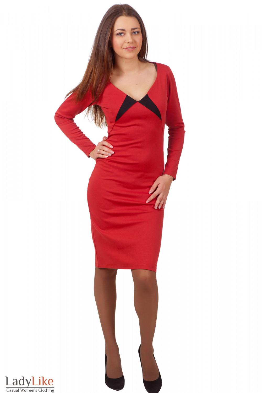 Фото Платье рыжее Деловая женская одежда