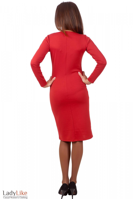 Фото Деловое рыжее платье Деловая женская одежда