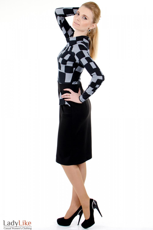 """Фото 2 Платье с карманами """"Квадрат""""  Деловая женская одежда"""