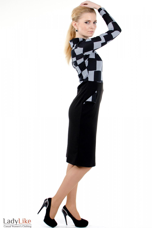 """Фото 3 Платье с карманами """"Квадрат"""" Деловая женская одежда"""