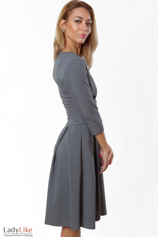 Купить платье деловое серое. Деловая женская одежда