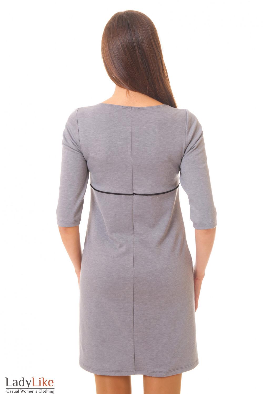 Платье вид сзади Деловая женская одежда