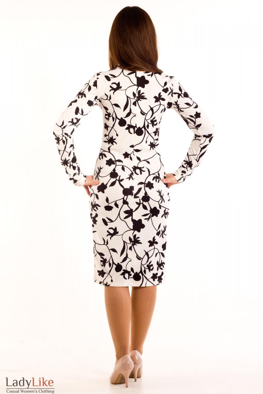 Фото Платье черно-белое Деловая женская одежда