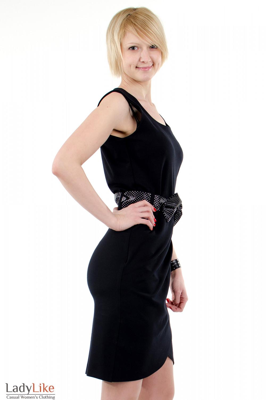 Фото Платье тюльпан черное. Вид справа. Деловая женская одежда