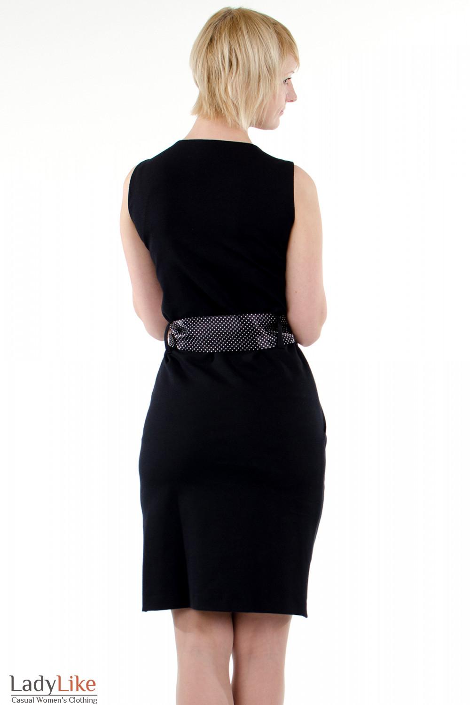 Фото Платье тюльпан черное. Вид сзади. Деловая женская одежда