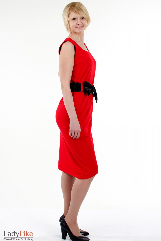 Фото Платье тюльпан красное. Вид справа Деловая женская одежда