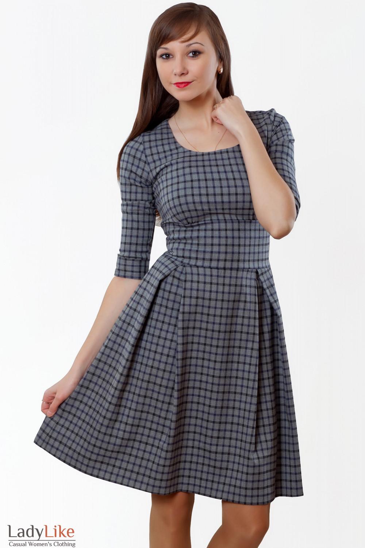 Женская одежда платье в клетку