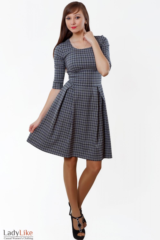 Фото Платье теплое с пышной юбкой Деловая женская одежда