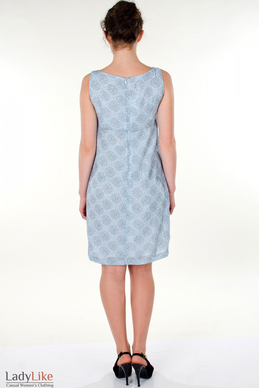Фото Сарафан  голубой  летний вид сзади Деловая женская одежда