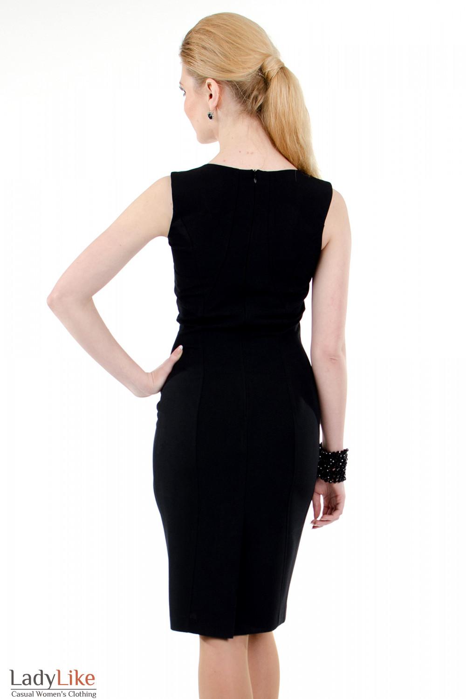 Фото Сарафан черный классический вид сзади Деловая женская одежда