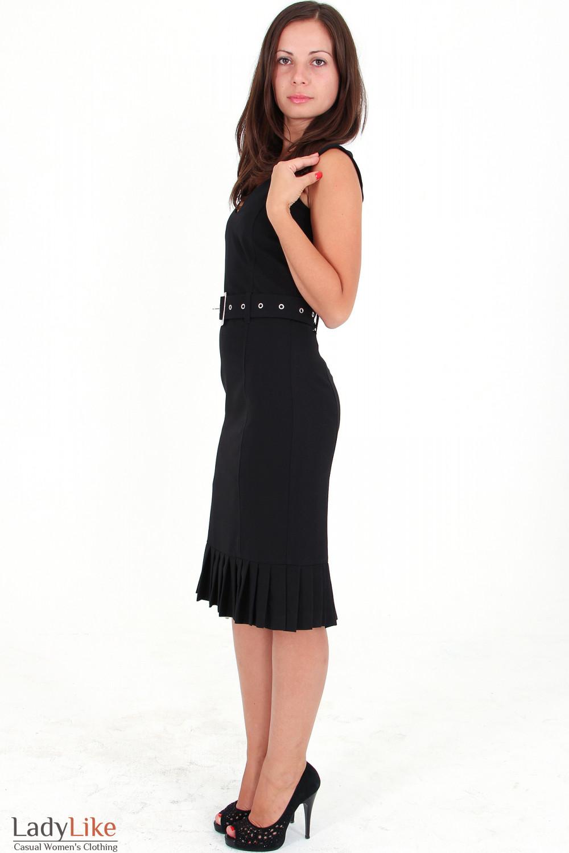 Фото Сарафан черный со складочками вид сбоку Деловая женская одежда