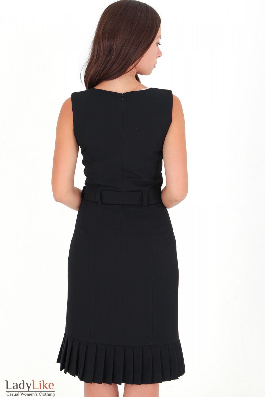 Фото Сарафан черный со складочками вид сзади Деловая женская одежда