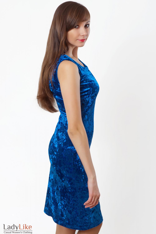 Купить сарафан синий новогодний. Деловая женская одежда