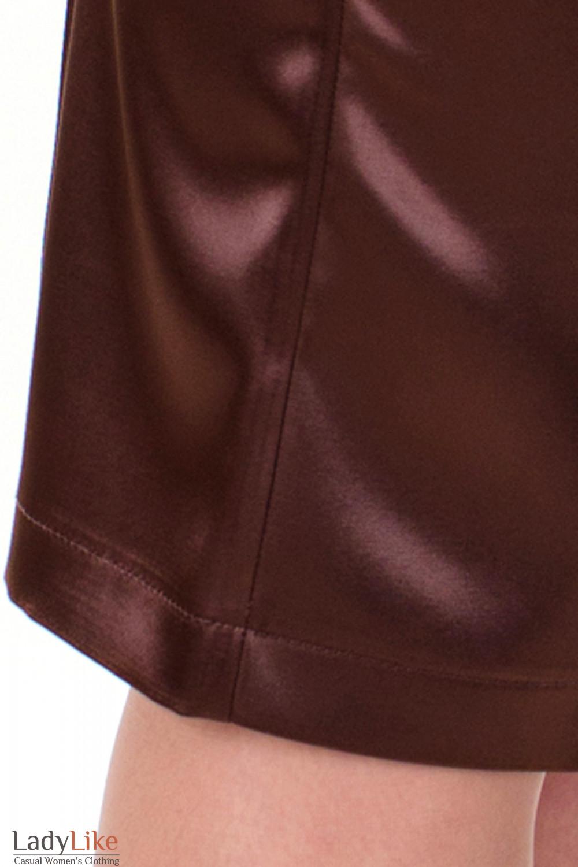 Фото Юбка-карандаш коричневая вид швов Деловая женская одежда