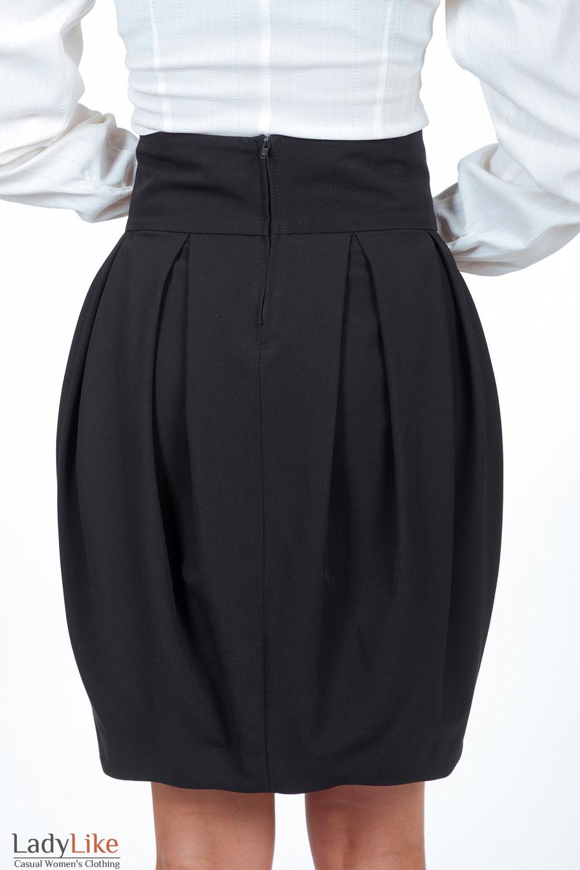 Юбка-тюльпан черная вид сзади Деловая женская одежда