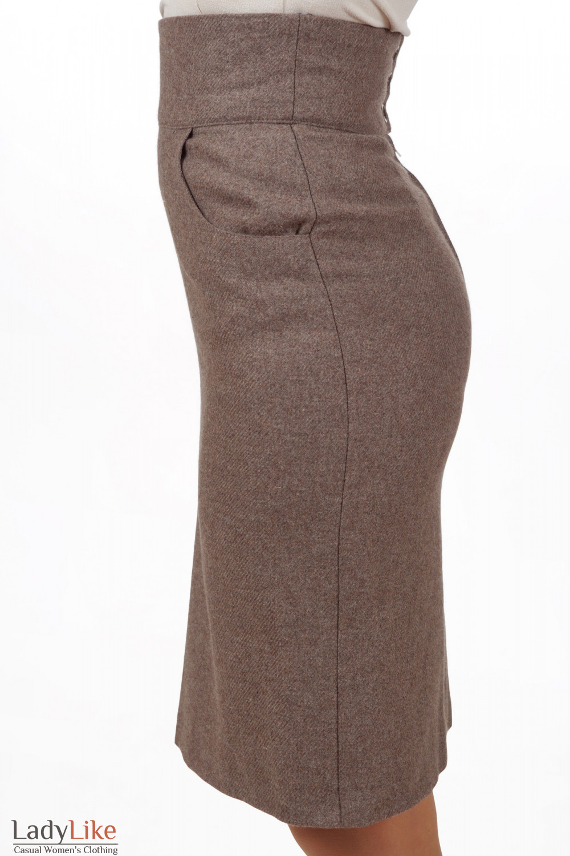 Фото Юбка бежевая теплая коллекция Ladylike Деловая женская одежда