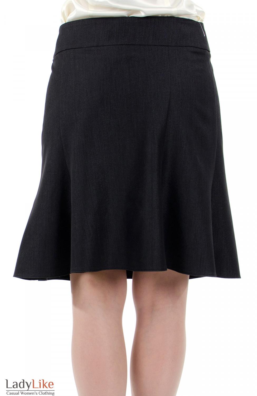 Фото Юбка годе короткая. Вид сзади. Деловая женская одежда