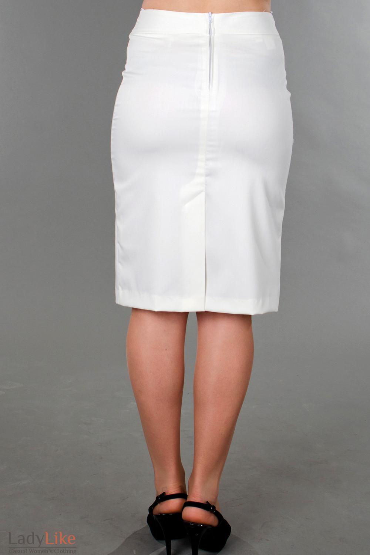 Белая юбка прямая купить в