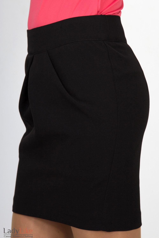 Фото Юбка короткая черная. Вид сбоку Деловая женская одежда
