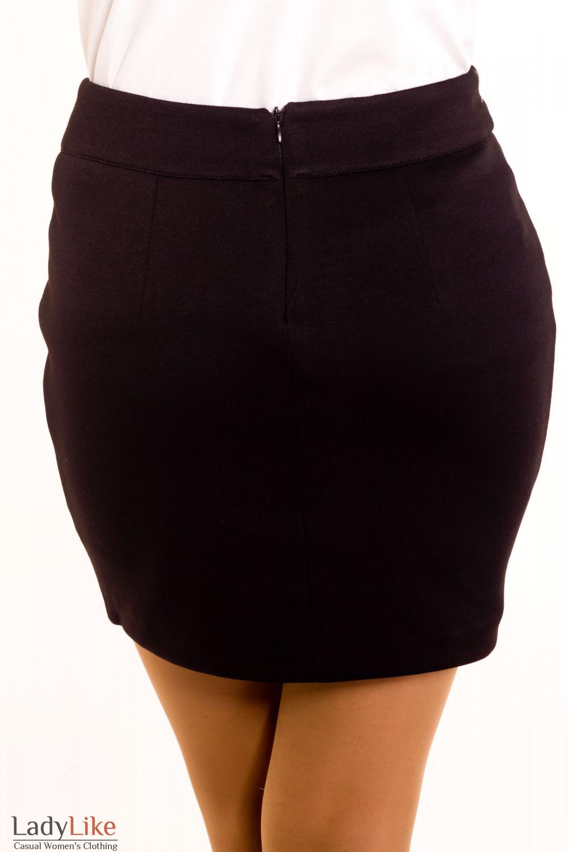 Фото Юбка короткая трикотажная. Вид сзади  Деловая женская одежда