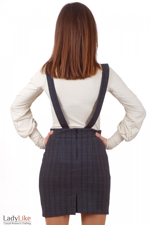 Фото Юбка серая Деловая женская одежда