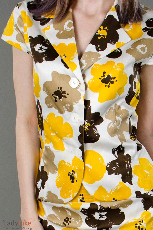 Фото Жакет цветочных мотивов вид спереди Деловая женская одежда