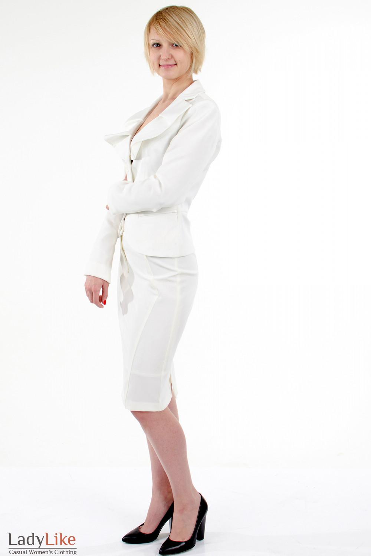 Фото Жакет с круглым воротником. Вид слева Деловая женская одежда