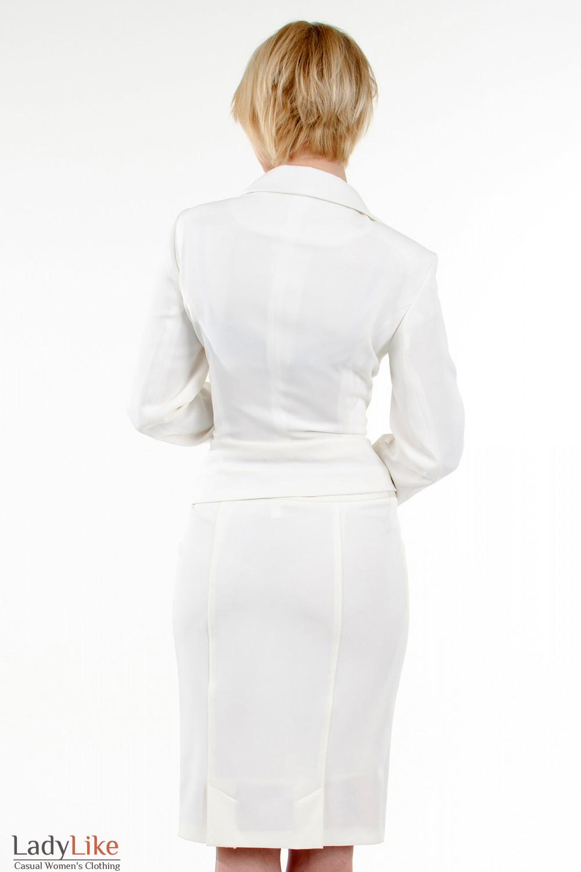 Фото Жакет с круглым воротником. Вид сзади Деловая женская одежда