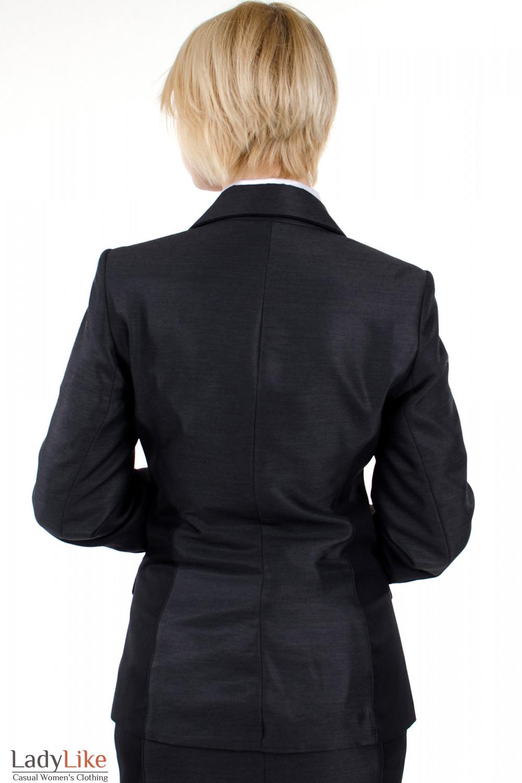 Фото Жакет с вставками черными. Вид сзади. Деловая женская одежда