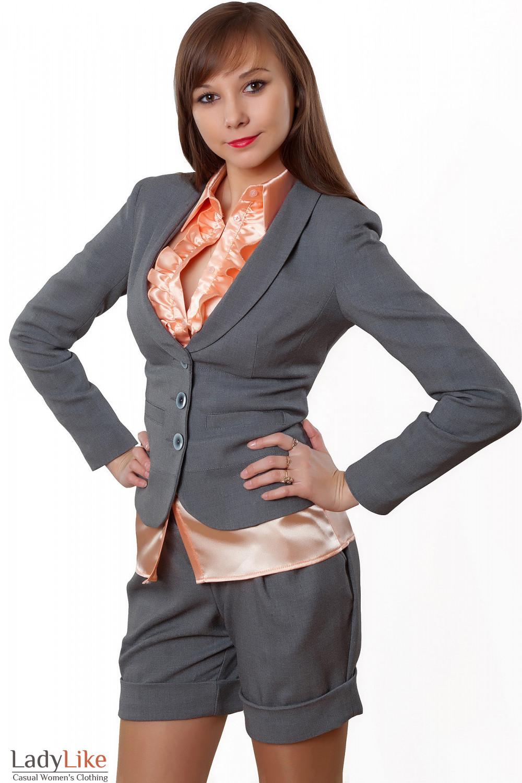 Купить жакет серый Деловая женская одежда