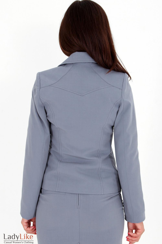 Фото Жакет светло-серый вид сзади Деловая женская одежда