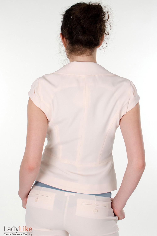 Фото Жилетка бежевая с круглым вырезом вид сзади  Деловая женская одежда