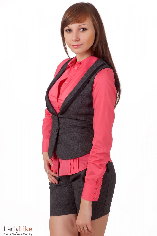 Фото Жилетка теплая Деловая женская одежда