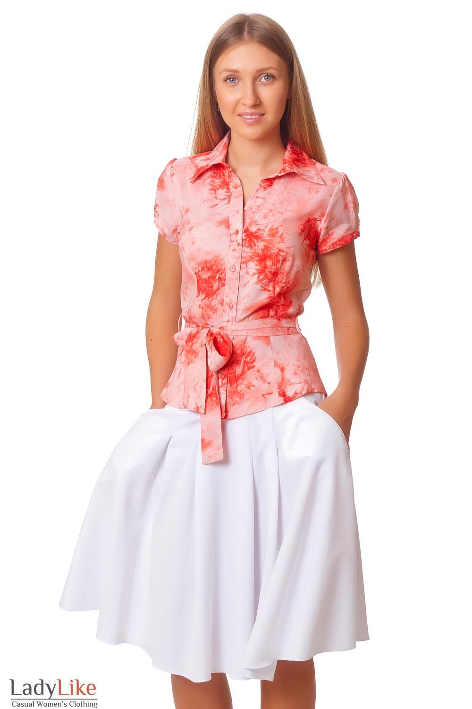 Купить юбку-солнцеклеш с карманами Деловая женская одежда